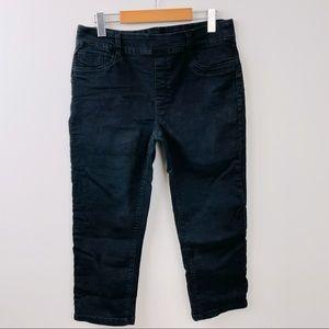 Suko Jeans gently used black crops crop